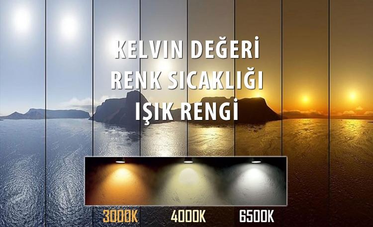 Aydınlatma'da Işık Renk Sıcaklığı (Kelvin)